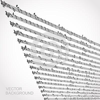 Music note vector sheet