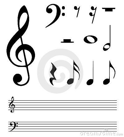 Free Music Notes Royalty Free Stock Photography - 23309787