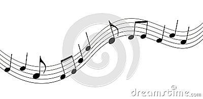 Music notes Vector Illustration