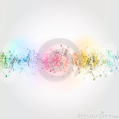 Free Music Notes Background Royalty Free Stock Photo - 26190375