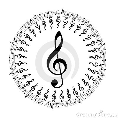 Music notes boder