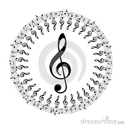 Music notes boder
