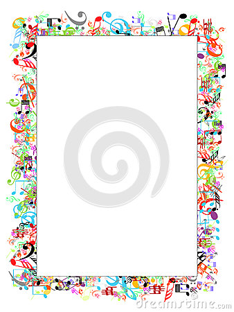 Free Music Notes Border Stock Photos - 32485743