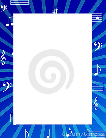 Music notes border / frame