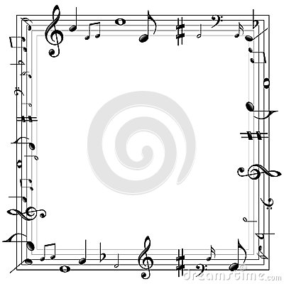 Music notes border Vector Illustration