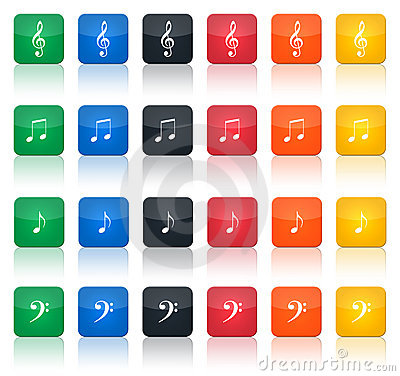 Music notes buttons
