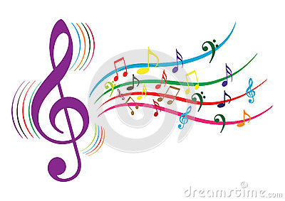 Music Notes Cartoon Illustration