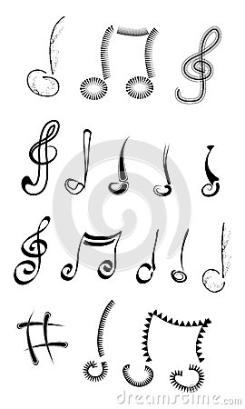 Music notes Cartoon Illustration