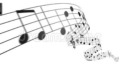 Music Notes Flowing On White Background. Seamless Animation. Stock Footage  - Video: 61908844