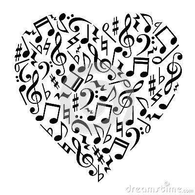 Free Music Notes Heart Royalty Free Stock Image - 70248786