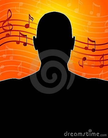 Music Notes Man Silhouette