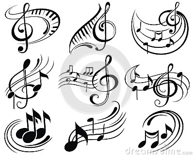 Music notes Vector Illustration