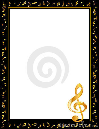 Free Music Notes Poster Frame Stock Photos - 4167233