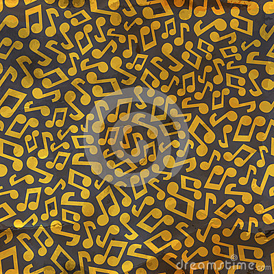 Music notes. Seamless pattern.