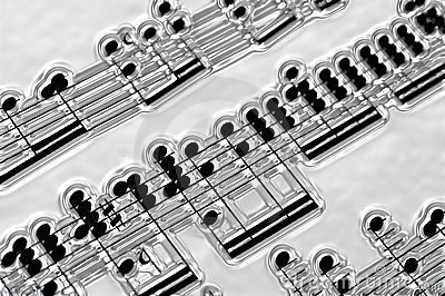 Music notes in silver