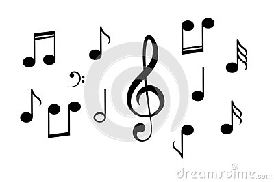 Music notes vector icon Vector Illustration