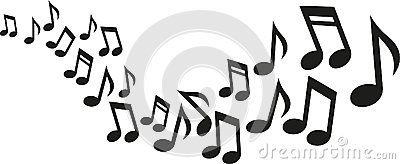 Music notes wave Vector Illustration