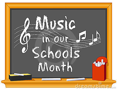 Music in Our Schools Month Blackboard