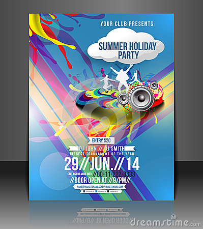Free Music Party Flyer Design Royalty Free Stock Image - 40800326