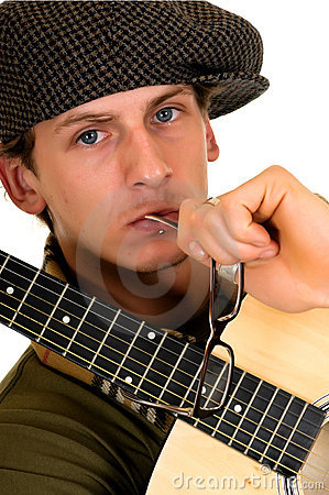 Music Performer, Guitar Royalty Free Stock Image - Image: 8325496