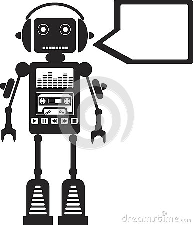 Free Music Robot Royalty Free Stock Image - 25619486