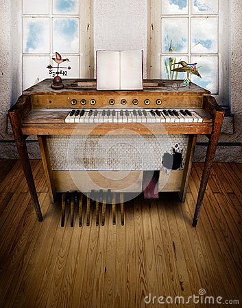 Music room with organ