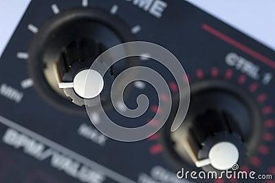 Music sampler control knobs