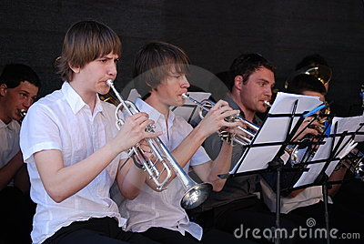 Music school brass band Editorial Image
