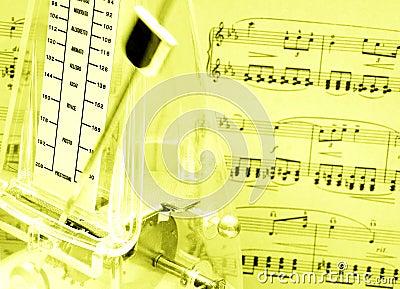 Music score, metronome