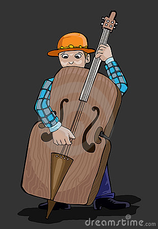 Music series- man playing Contra bass