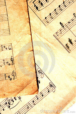 Music sheets with extra grunge