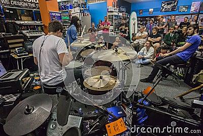 Music Shop Drum Demo Public Editorial Image