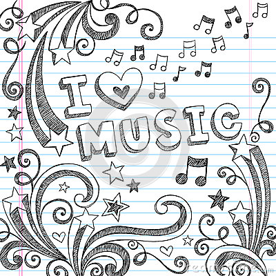 Free Music Sketchy Notebook Doodles Vector Illustration Stock Photography - 27039392