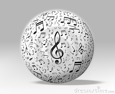 Music and Sound Globe Isolated