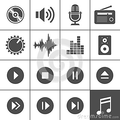 Music and sound icons - Simplus series
