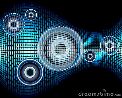 Music sound wave abstract background