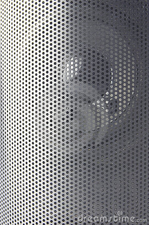 Music speaker close up