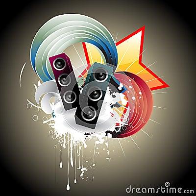 Free Music Speaker  Design Stock Photo - 14071650