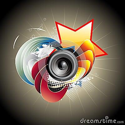 Free Music Speaker  Design Royalty Free Stock Photography - 14071667