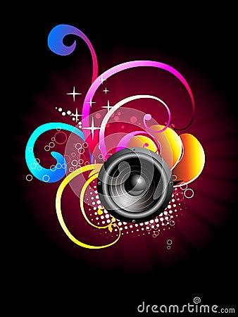 Free Music Speaker  Design Royalty Free Stock Image - 14071726