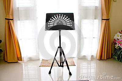 Music stand in home