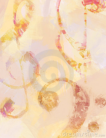 Free Music Symbol Background In Brush Strokes Royalty Free Stock Photos - 10766028