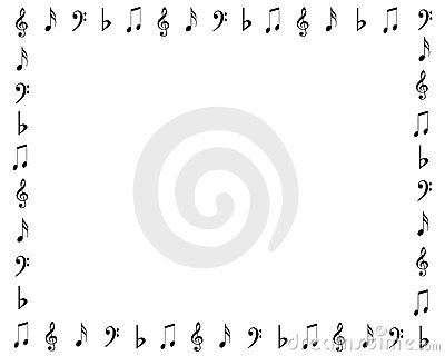 Music symbols border