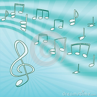 Music. Treble clef and notes.