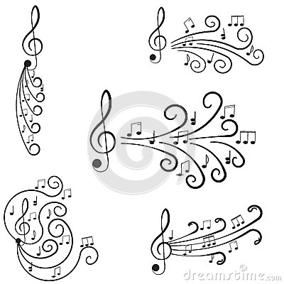 Music. Treble clef and notes for your design.