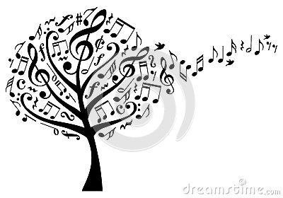 Music tree with notes, vector Vector Illustration