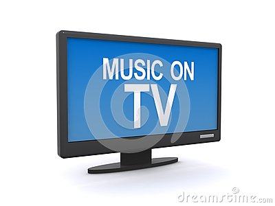 Music on tv sign