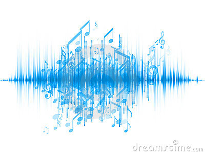 music notes audio