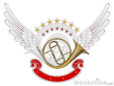 Music wing emblem