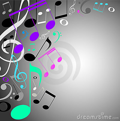 Musical background. color notes